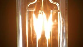 Light bulb flickering, close up. stock video