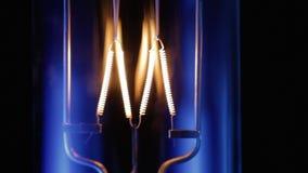 Light bulb flickering, close up. stock footage
