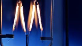Light bulb flickering. stock video