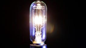Light bulb flickering. stock footage