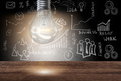 The light bulb in fresh ideas concept Royalty Free Stock Photo