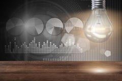 The light bulb in fresh ideas concept. Light bulb in fresh ideas concept Stock Photos