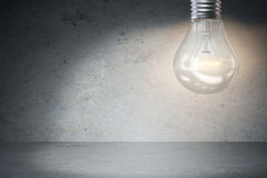 The light bulb in fresh ideas concept 3d rendering Stock Photo