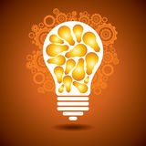 Light bulb with gear Stock Photography