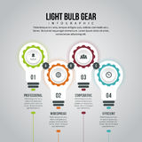 Light Bulb Gear Infographic. Vector illustration of light bulb gear infographic design element Royalty Free Stock Photo