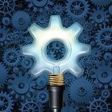 Light Bulb With Gears Stock Photography