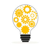 Light bulb with gears and cogs vector Royalty Free Stock Photo