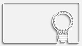 Light bulb gears Stock Image