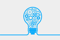 Light bulb gears Royalty Free Stock Images
