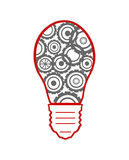Light bulb with gears and cogs working together Royalty Free Stock Photo