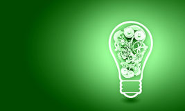 Light bulb with gears Royalty Free Stock Photography
