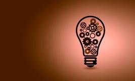 Light bulb with gears Stock Photos