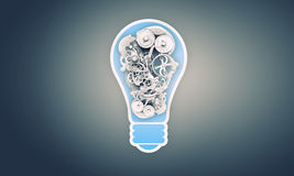 Light bulb with gears Royalty Free Stock Photo