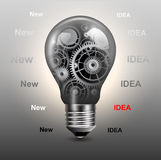 Light bulb with gears Royalty Free Stock Images
