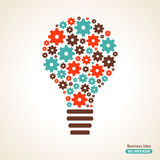 Light Bulb with Gears Pattern. Vector Illustration. Business Idea Creative Concept. Idea Abstract Infographics Template. Idea Symbol Royalty Free Stock Image