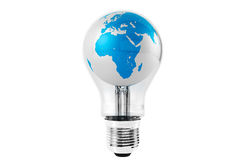 Light Bulb with Globe Stock Photos