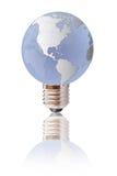 Light bulb globe isolated. Royalty Free Stock Photo