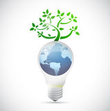 Light bulb globe tree illustration design Royalty Free Stock Image