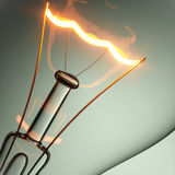 Light bulb with glow. 3D illustration Stock Images