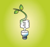 Light Bulb Going Green Stock Images