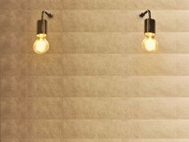 Light bulb and gold texture wall stock photography