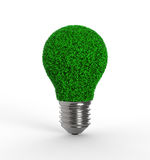 Light bulb with grass Royalty Free Stock Photos