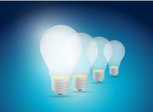 Light bulb great idea illustration design Royalty Free Stock Photography