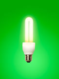 Light bulb green background Royalty Free Stock Photos