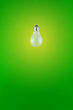 Light bulb on green background Royalty Free Stock Image
