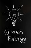 Light bulb,green energy Royalty Free Stock Photography