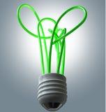 Light Bulb Green Energy Flourescent Stock Photos