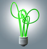 Light Bulb Green Energy Flourescent Royalty Free Stock Images