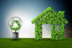 The light bulb in green environment concept - 3d rendering Royalty Free Stock Photography