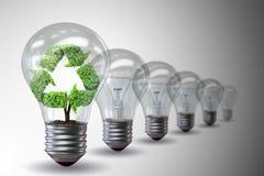 3d Eco Concept Environmental Light Bulb Stock Vector