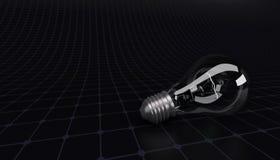 Light bulb on grid background Stock Image