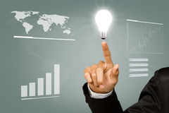 Light bulb in hand. Royalty Free Stock Photo