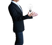 Light bulb in a hand Royalty Free Stock Photos