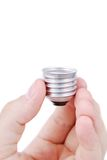 Light bulb in hands Stock Photography