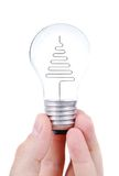 Light bulb in hands Stock Photo
