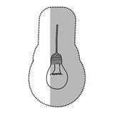 light bulb hanging icon Stock Images