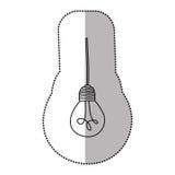 light bulb hanging icon Stock Photos
