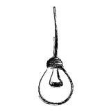 light bulb hanging icon Royalty Free Stock Photo