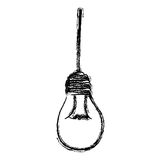 light bulb hanging icon Royalty Free Stock Images