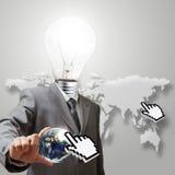 Light bulb head Stock Photos