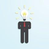 Light bulb head businessman Royalty Free Stock Images