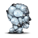 Light Bulb Head vector illustration