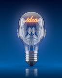 Light bulb head Royalty Free Stock Photos