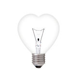 Light bulb in heart shape Royalty Free Stock Photography