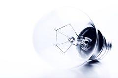 Light bulb high-key monochrome Stock Images