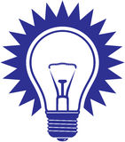 Light bulb  icon Royalty Free Stock Image
